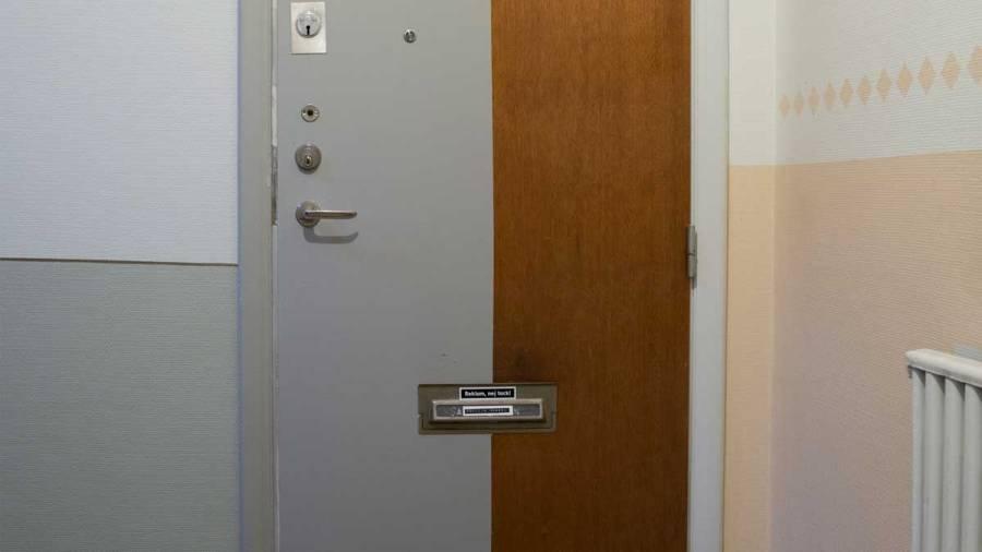 halvmålad dörr